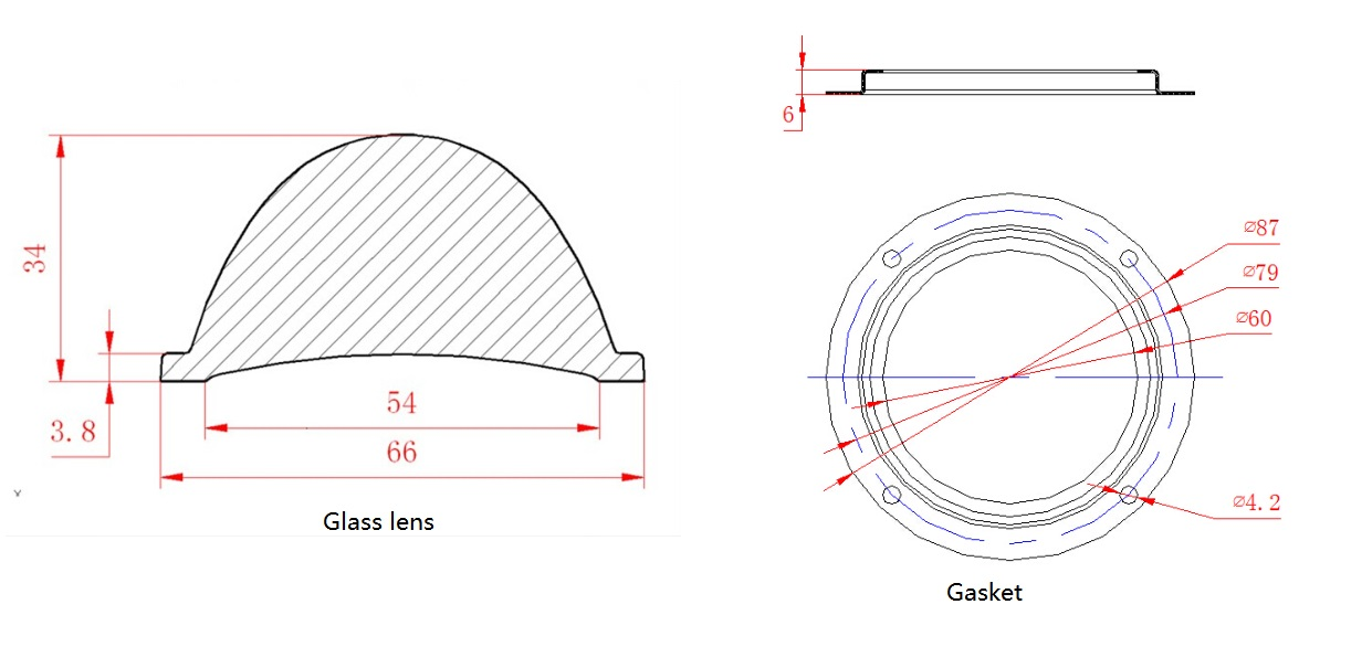 agh66d60g - glass lens for high bay